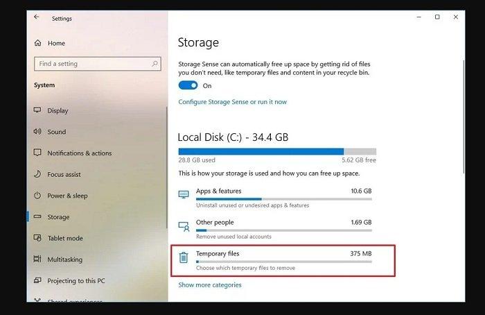 Reclaim hard drive space in Windows