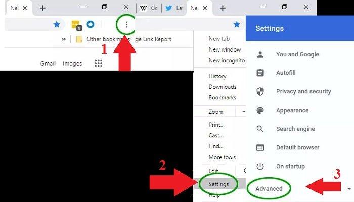 Reset Chrome to Default Settings