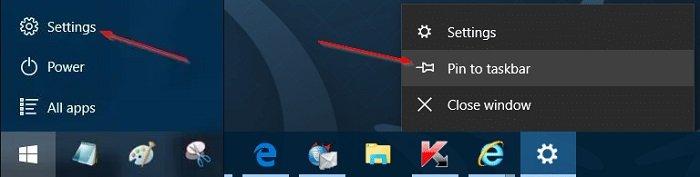 Tip Add Settings To Taskbar In Windows 10