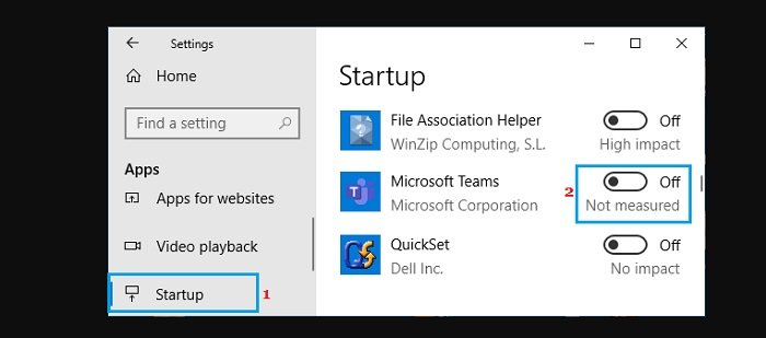 stop Microsoft Teams from running in the background